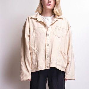 Vintage 90s beige boxy draped sweater jacket